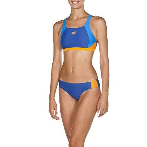 ARENA Damen Sport Bikini Ren Bikiniset, royal-pix Blue-Tangerine, 36