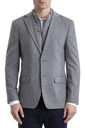Tommy Hilfiger Men's Classic Heritage Blazer, Medium Grey, 40R