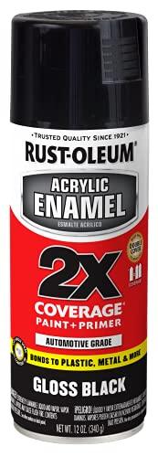Rust-Oleum 271903 Automotive Spray Paint, 12 Ounce (Pack of 1), Gloss Black