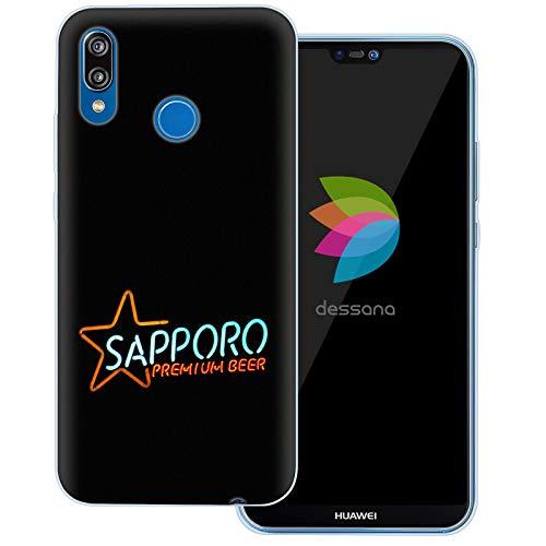 dessana Japan Sightseeing transparente Schutzhülle Handy Case Cover Tasche für Huawei P20 Lite Sapporo Bier