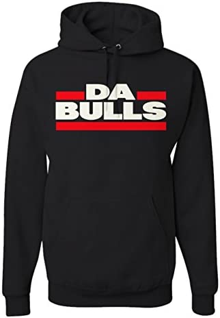 Men s Da Bulls Chicago Sports Hoodie Basketball Fan Pullover Sweatshirt 2XL Black product image