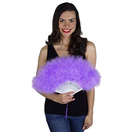 Zucker Feather (TM) - Marabou Feather Fan - Lavender