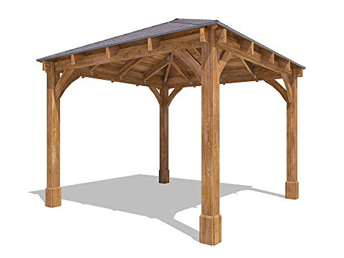 Wooden Heavy Duty Gazebo Pressure Treated Hot Tub Shelter With Roof Shingles Included And 10 Year Rot Guarantee Atlas™ W3.2m x D3.2m