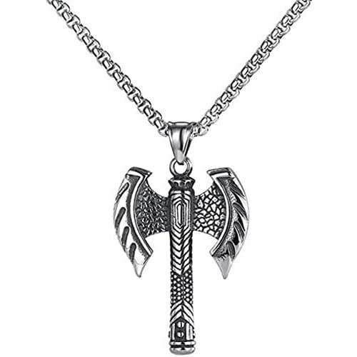 Pxjdh Destiny Liebe Modeschmuck Männliche männliche Axt Persönlichkeit Halskette Halskette Anhänger Edelstahl Kette Party Geschenk Ornament