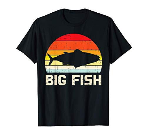 Fish Big Retro Bass Fishing Family Matching Dad Son Men Gift Maglietta