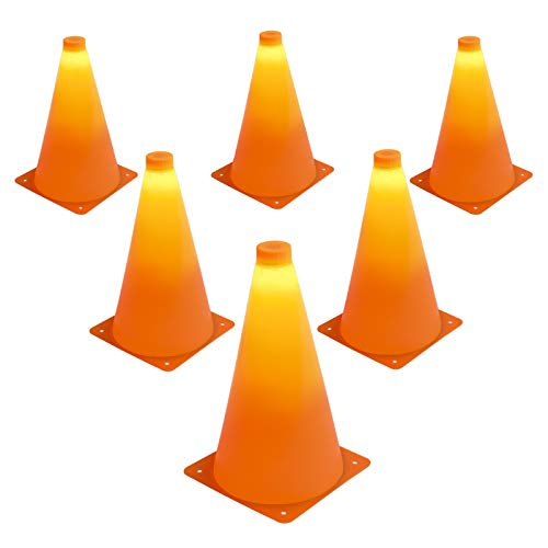 Product Image of the GoSports LED Light Up Sports Cones (6 Pack), 9'