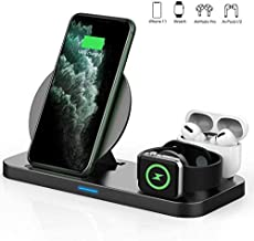 Hifit 3 in 1 Wireless Charger Stand for iPhone 11/pro/MAX/XR/XS/X/8Plus/8, Fast Wireless Charger for Airpods, Charging Dock Station for Apple Watch Series 5/4/3/2/1, iWatch