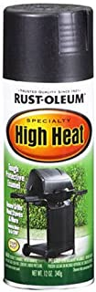 Rust-Oleum 7778830 High Heat Enamel Spray, 12 oz, Bar-B-Que Black