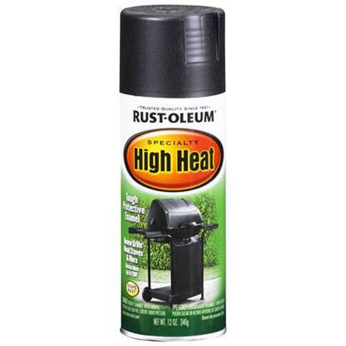 Rust-Oleum 7778830 High Heat Enamel Spray Paint, 12 Fl Oz (Pack of 1), Bar-B-Que Black