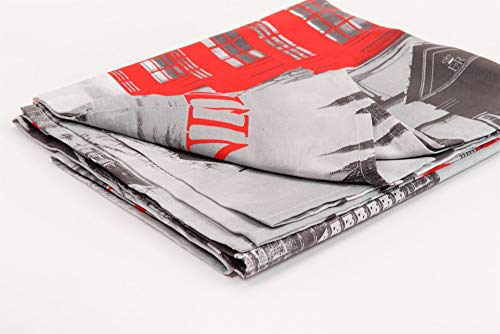 HomeLife - Tela decorativa para sofá con imágenes de Londres, 160 x 280 cm, fabricada en Italia – Sábana multiusos de algodón – Granfoulard Colcha para cama individual – [1 plaza]
