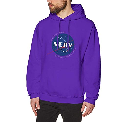XCNGG Evangelion NERV Logo Funny Design Pullover Hoodie para Hombre
