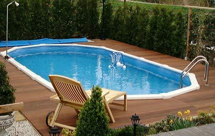 Interline 55000120 oval Pool Sunlake Komplett Set - 4
