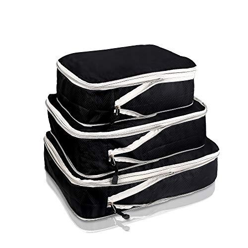圧縮バッグ 旅行圧縮収納バッグ 衣類圧縮バッグ トラベル圧縮バッグ ファスナー圧縮 衣類スペース50%節約 収納バッグ 衣類仕分け 軽量 防水 大容量 旅行 出張 衣類収納 ジッパー 簡単圧縮 3点セット