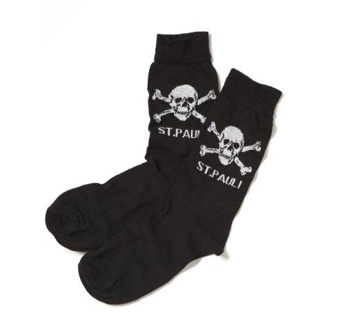 Upsolut FC St. Pauli - Totenkopf Socken, schwarz, Grösse XL