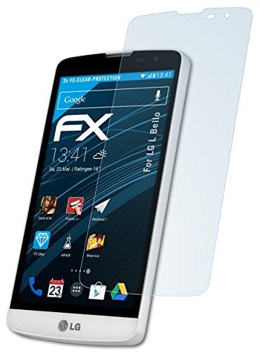 atFolix Schutzfolie kompatibel mit LG L Bello Folie, ultraklare FX Bildschirmschutzfolie (3X)