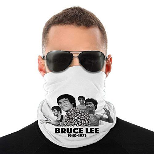 Bruce Lee Balaclava Variety Head Scarf Unisex Soft Windproof Headband for Sports Hiking