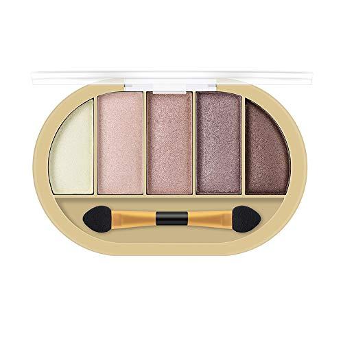 FRsolder Pearl Glitter Eye Shadow Powder Matt Eyeshadow Cosmetic Makeup 5 Color Palette de Fard à paupières Ombre à Paupières Nude Matte Shimmer Glitter Multi-Reflective Shades Teint Maquillage