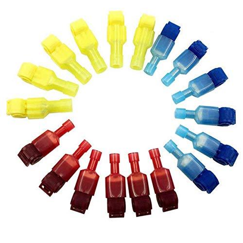 Lesai Conectores Eléctricos 180 PCS (90 Pares) T-Tap Regletas, Quick alambre de...