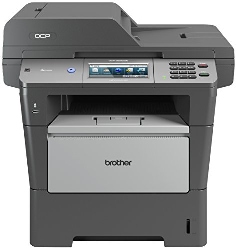 Brother DCP-8250DN Monolaser-Multifunktionsgerät (Scanner, Kopierer, Drucker, LAN, AirPrint, 1200 x 1200 dpi, USB 2.0) grau