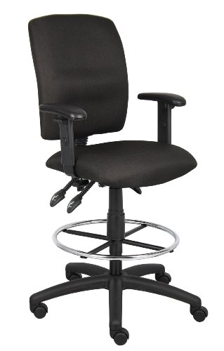 Boss office products multi-function fabric drafting stool