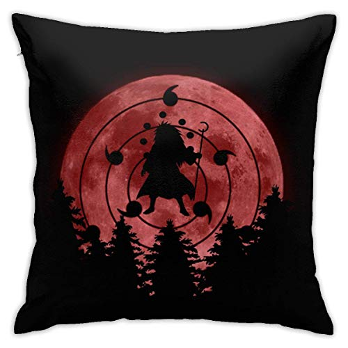 Throw Pillow Covers Soft Square Throw Pillow Case Home Decorative for Bed Couch Sofa Farmhouse Cushion Case Both Sides - Naruto Madara Rule Fundas para Almohada 20x20Inch(50cmx50cm)