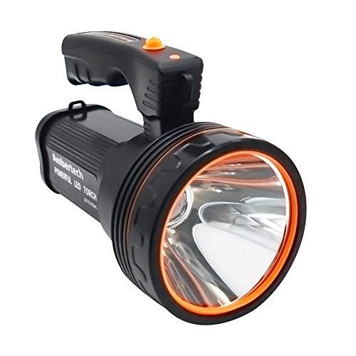 Recargable 7000 lúmenes Super brillante LED Searchlight Spotlight linterna antorcha linterna con luz aguda con SKYJIE