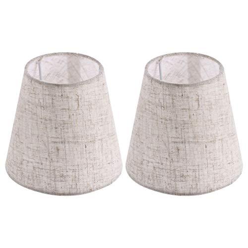 Lurrose 2 Piezas de Lámpara de Tela de Barril Pantalla de Tela Tela de Arpillera Lámpara de Mesa Rústica para Cubierta de Lámpara Lámpara de Pared Lámpara de Techo Campana 5. 5X5. 1