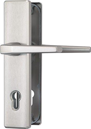 ABUS Tür-Schutzbeschlag HLS214 F9 mit beidseitigem Drücker, edelstahl, 31699 (die Verpackung kann variieren)