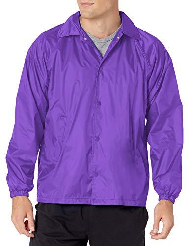 Augusta Sportswear Men's Nylon Coach's Jacket/Lined, Purple, X-Large