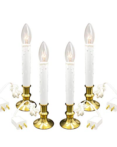Daily Timer Window Candle 8/16 hrs Heavy Brush Brass Base 4PK