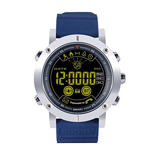 AsDlg Professionele smartwatch, IP68, waterdicht, voor sport in de open lucht, smartwatch voor heren, bluetooth, oproepmeldingen via sms, calorieënteller, stappenteller