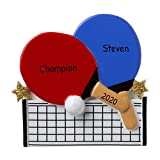 Personalized Ping Pong Christmas Tree Ornament 2020 - Table Tennis Player Racket Hit Ball Sport Net Junior...