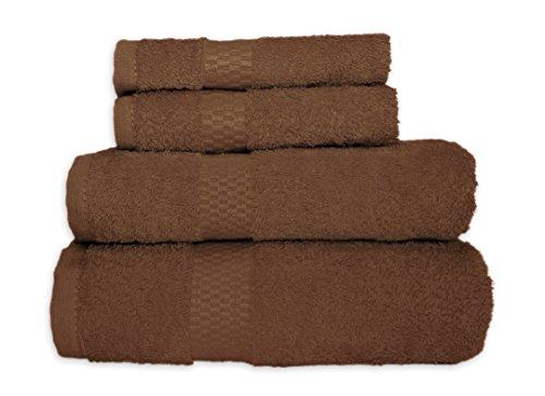 Asciugamano TELO DOCCIA asciugamano ospite Lavetta Guanto in spugna 100% cotone 500G/M² qualità # 1221, 100% cotone, cioccolato marrone, 30x30 Seiftuch