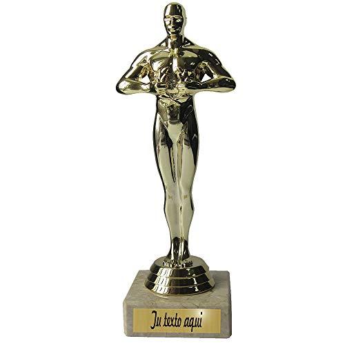 Figurilla / Estatuilla de Oro La Victoria'' sobre una Base de mármol cremosa con Texto estandarizado o Deseado - La Mejor mamá / papá del Mundo - El Regalo Personal (Tu Texto Deseado)
