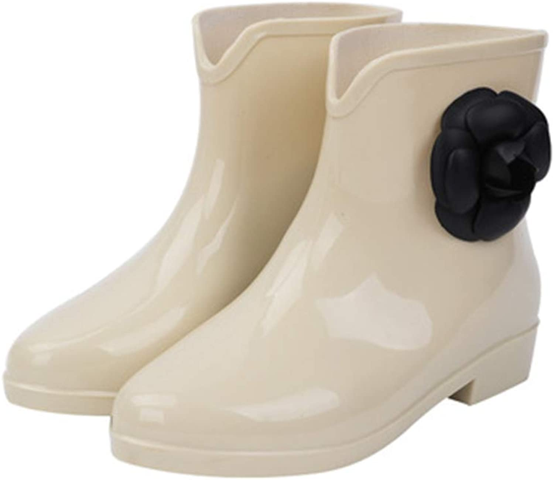 Fancyww Women's Rubber Rain Boots, Ankle Boot Garden shoes