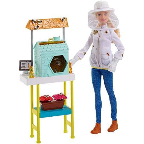 Barbie Playset Apicoltrice, Casetta per le Api e Tanti Accessori, FRM17