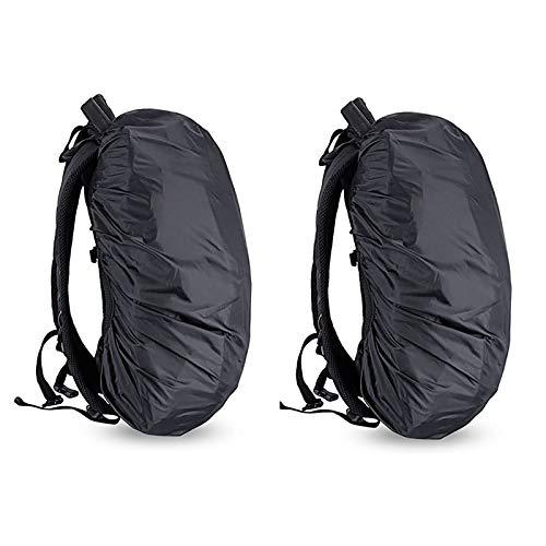 Mochila impermeable de nailon para senderismo, camping, viajes, al aire libre, color negro, 2 unidades de 25 l