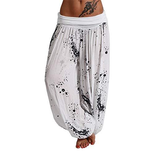 Generice Nuevos Modelos Explosión Impresión Digital Pantalones Largos de Pierna Ancha Pantalones Casual