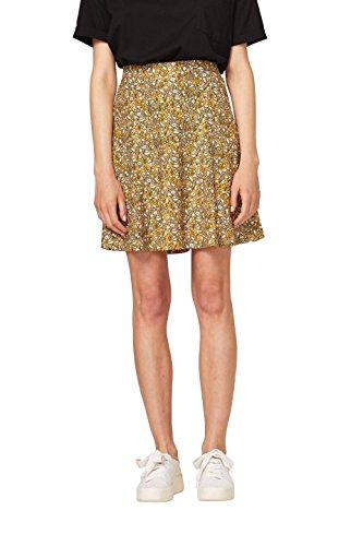 Falda amarilla estampada con flores (Amarillo miel)