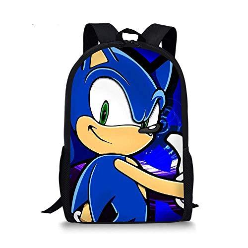 min min 12 Pulgadas Sonic School Bag 2020 12 Pulgadas Niños Mochilas Conjuntos Pretty Sonic The Hedgehog Print Fashion Girl Chica Boy School Bookbag Daily Bood Bags Dropship