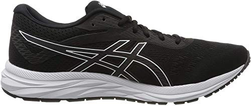 ASICS Men's Gel-Excite 6 Running Shoes, 9M, Black/White