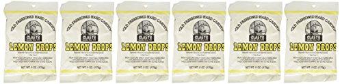 Claey's Candies Lemon Drop Hard Candy, 6 Package Deal