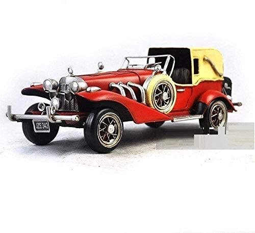 LPQA Figuras y estatuas de Animales Estatuas Decoración Hierro Hecho a Mano Modelo de automóvil Antiguo Modelo de automóvil Antiguo artesanía de Metal