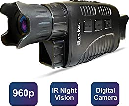 """Rexing B1 Basic Night Vision Goggles/Monoculars w/1.5"""" LCD Screen, Infrared (IR) Digital Camera, Binoculars with Dual Photo + Video Recording for Outdoor Hunting, Camping, Bird watching & Surveillance"""