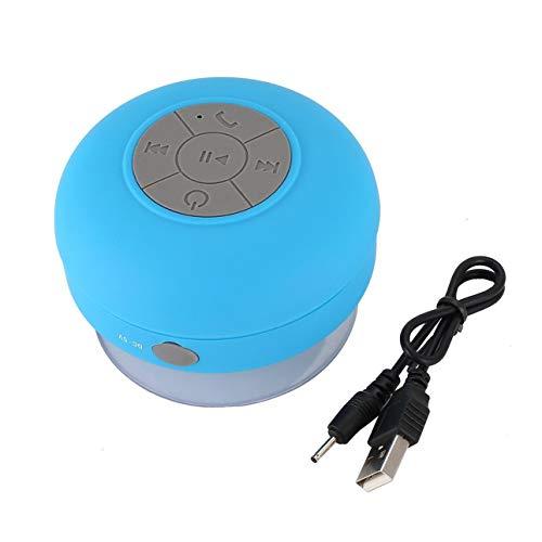 Ballylelly Mini Altavoz inalámbrico portátil a Prueba de Agua Altavoz de Ducha para teléfono Receptor de MP3 Manos Libres Altavoz del Coche