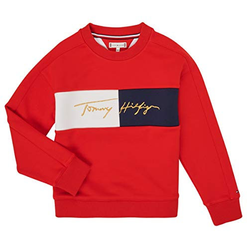Tommy Hilfiger Kg0kg05497-xnl-j Sweatshirts Und Fleecejacken Madchen Rot - 12 Jahre - Sweatshirts Sweater