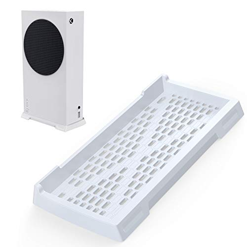 innoAura Soporte Vertical para Xbox Series S, Soporte Xbox Series S con Soportes Antideslizantes y Rejillas de ventilación integradas (Blanco)
