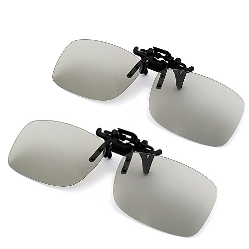 Yakamoz 2pcs Clip-on 3D Glasses for RealD Televisions, Cinemas, Home Movie...