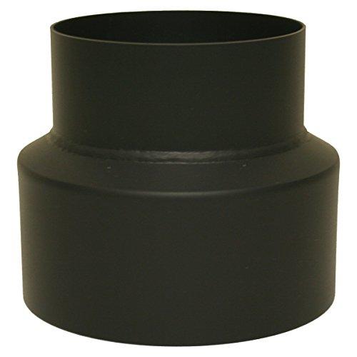 Reduzierung Ofenrohr 150 / 120 mm Rauchrohr Reduzierstück Schwarz 2 mm