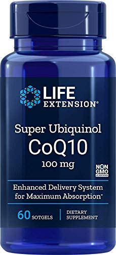 Super Ubiquinol CoQ10 100mg (60 softgels) Life Extension